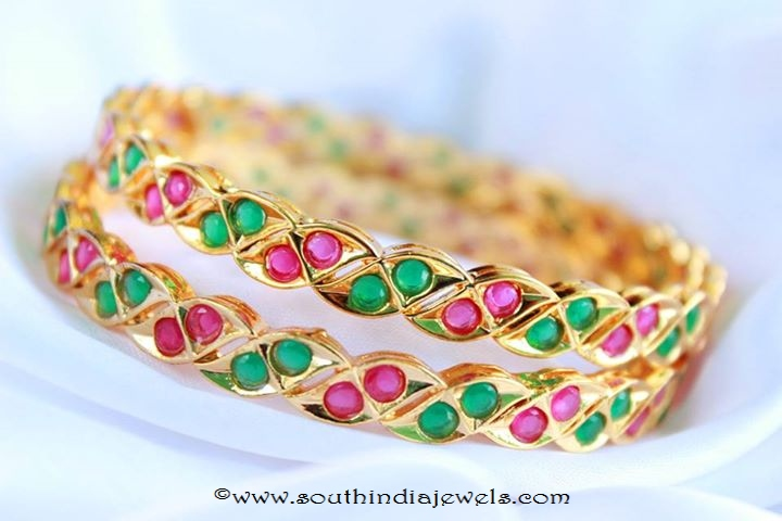 Imitation Ruby Emerald Bangle from Magha Store