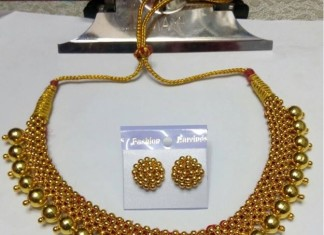 Imitation short necklace Desin with earrings