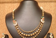 Light Weight Antique Necklace Set with Jhumka from NAj Jewellery