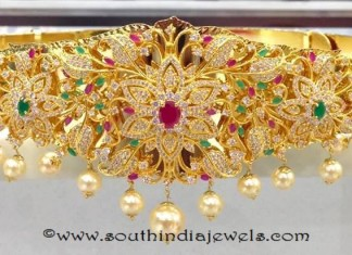 One Gram Gold Ottiyanam (Hip Belt) with price