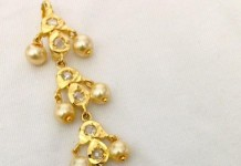 Imitation pearl stone tikka from Swarnakshi jewels and accessories