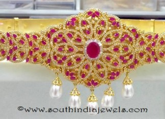 Gold Plated Ruby Hip Belt From Swarnakshi Jewels and Accessories