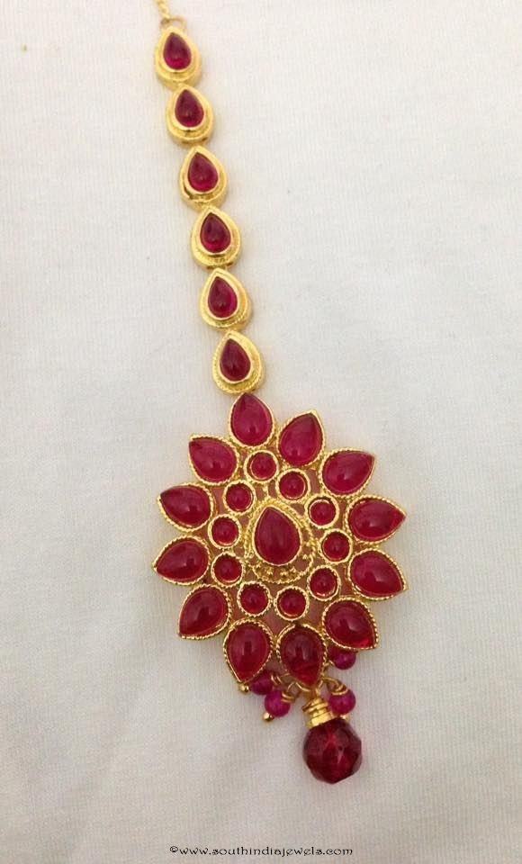 Imitation Ruby Tikka Design
