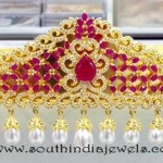 One Gram Gold Ruby Ottiyanam