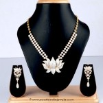Diamond Necklace With Lotus Pendant