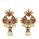 Gold Designer Antique Earrings
