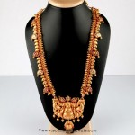 Gold Antique Long Necklace From Bhima Jewellery