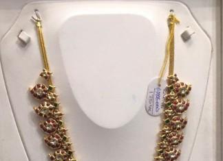 Gold Antique Long Necklace Set