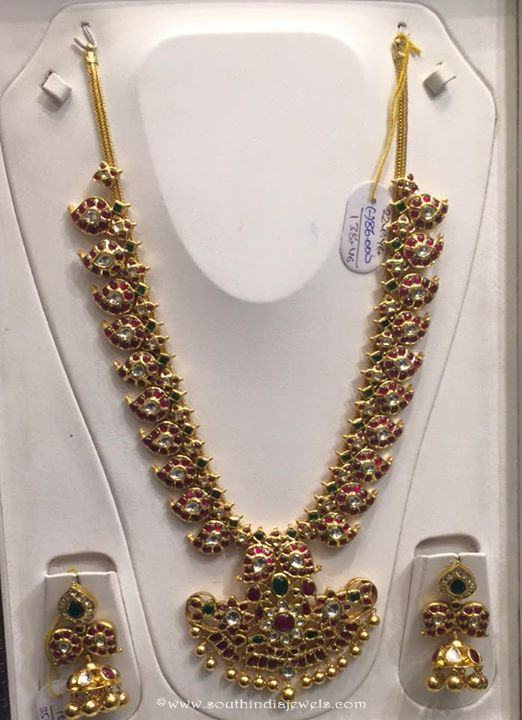Gold Antique Long Necklace Set