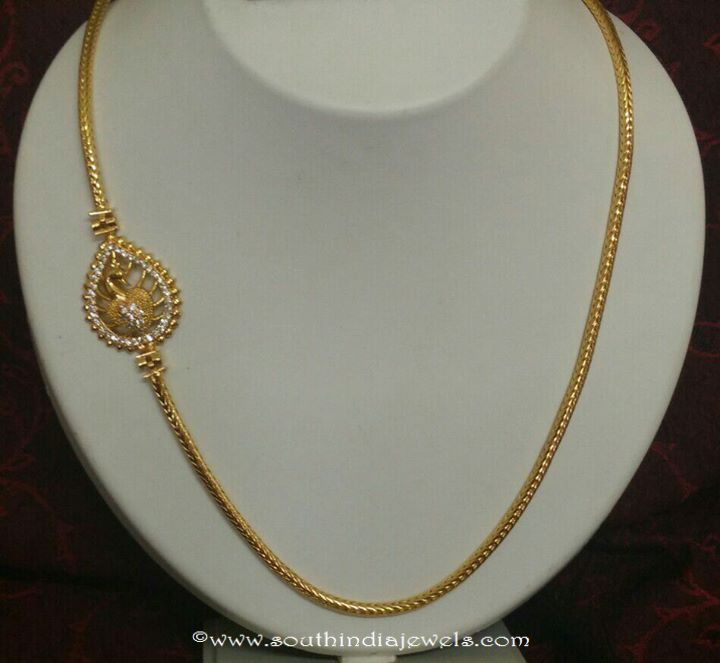 gold plated chains with side mogappu