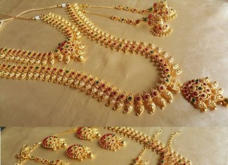 Imitation Bridal Mango Necklace Sets from Simma Jewels