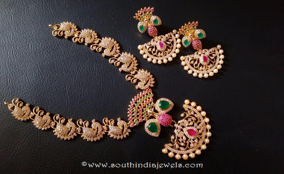 da83f31e5 One Gram Gold Designer Necklace ~ South India Jewels