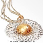 18K Gold Short Chain With Fancy Pendant