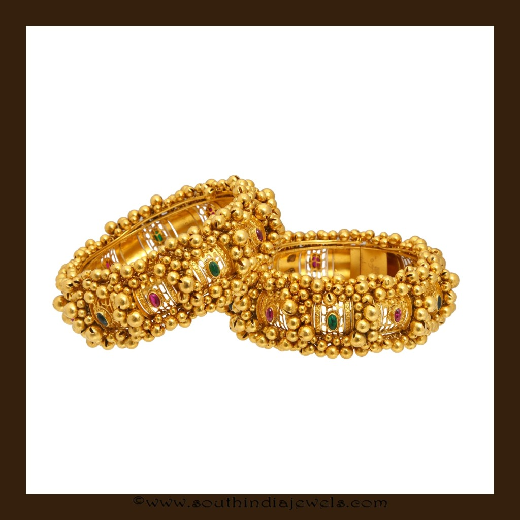 22k gold clustered bead bangles from VBJ