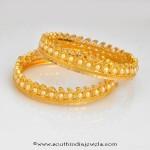 22k Gold Pearl Bangles (Kangans)