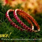 22K Gold Ruby Bangle From Kalyan Jewellers