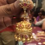 33 Grams Weight Gold Ruby Jhumki