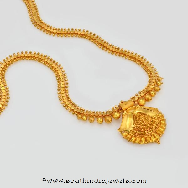 47 grams gold necklace set from waman hari pethe sons (WHPS)