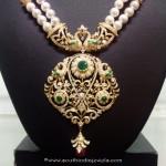 Diamond Pearl Mala with Peacock Pendant