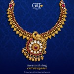 GRT Jeweller's Gold Antique Necklace Design