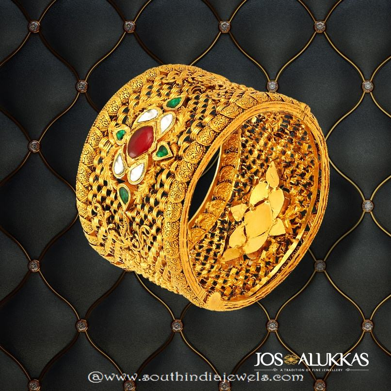 22k Gold  Kada Bangle from Josalukkas