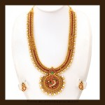 Gold Antique Long Necklace Set From VBJ