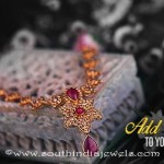 Gold Ruby Bridal Necklace From Kalyan Jewellers