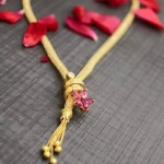 Gold Designer Chain With Short Pendant