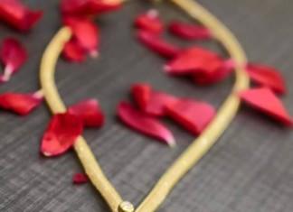 Gold Designer Chain with Short Pendant