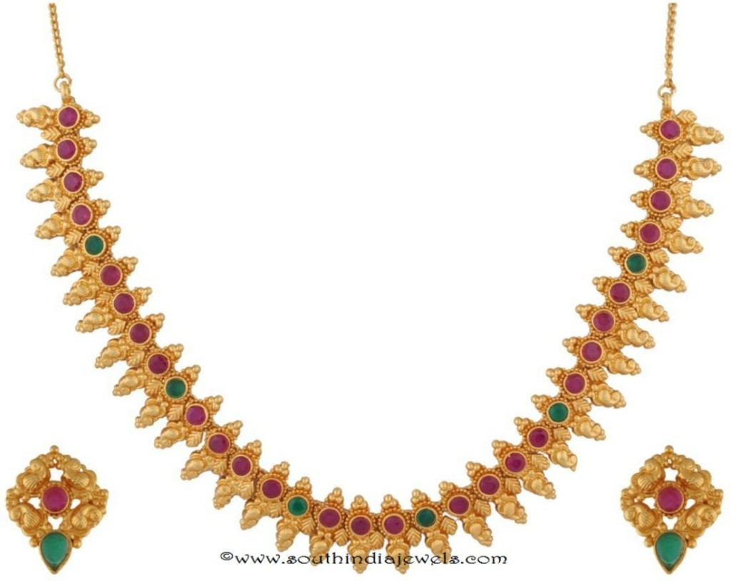 Gold Plated Kemp Necklace set buy Online