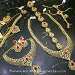 Imitation Ruby Bridal Jewellery Set