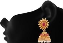 Buy Imitation Ruby Jhumka Online