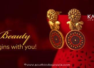 Kalyan Jewellers Gold Fashion Earrings