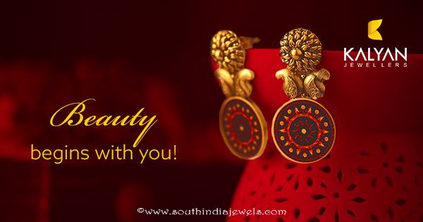 Kalyan Jewellers Gold Fashion Earrings