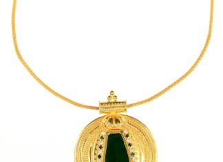 Kerala Style Gold Short Necklace