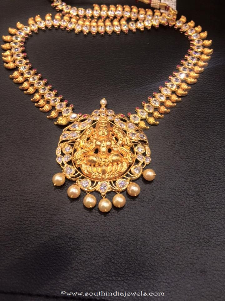 22k gold temple lakshmi necklace from PSJ