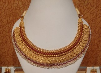 Light Weight gold Antique Ruby Kasuamalai Necklace from Naj