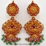 Maharashtrian Style Gold Antique Earrings