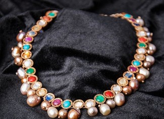 Navarathna Necklace Set