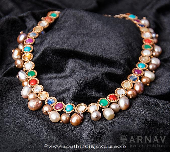 Navarathna Necklace Set