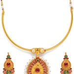 One Gram Gold Attigai Necklace with Price