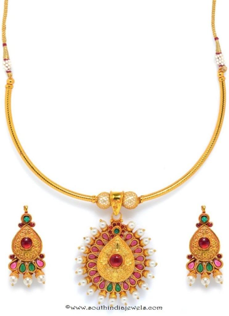 One Gram Gold Attigai Necklace buy Online