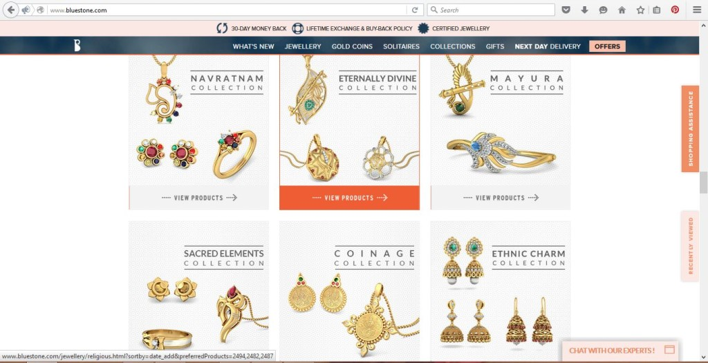 Bluestone Online Jewellery Shop in India