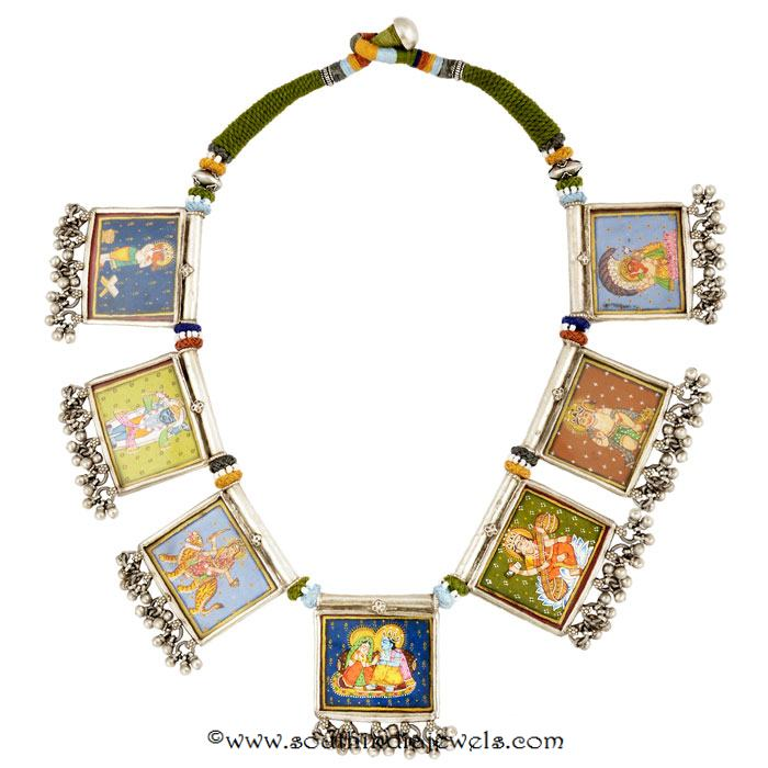 Silver Threaded Necklace from Amrapali