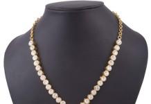 Simple white stone short necklcae buy online
