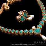 Gold Emerald Necklace from Arnav