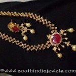 Gold Plated Ruby Necklace Set