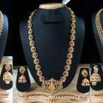 Latest 1 Gram Gold Long Necklace Designs 2016
