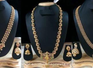 1 gram gold long necklace latest designs