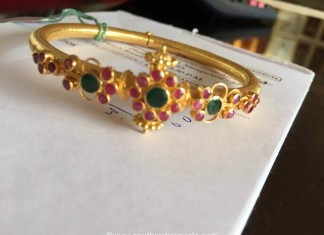18 Grams gold ruby bangle from New Arun Jewllers